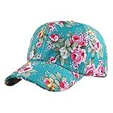 Casquette de base-ball femme fleur, BZLine Hip-Hop Snapback Hat réglable-Femmes bonnet d'été (Vert)