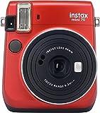 Fujifilm Instax Mini 70 Passion Red Fotocamera Istantanea per Stampe Formato 62x46 mm, Rosso