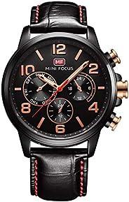 ساعة ميني فوكس للرجال كوارتز انالوج بعقارب وسوار جلد - MF0001G.05