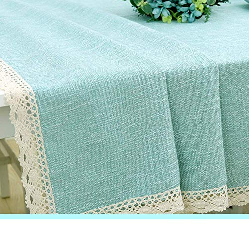 (YT-ER Tischdecken - Family Home Household Pure Color Tischtuch Tischdecken aus Baumwolle und Leinen für EIN Picknick, 135x135cm (53x53 Zoll), b)