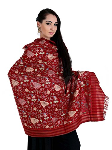 Shawl Cashmere Wool Mehroon