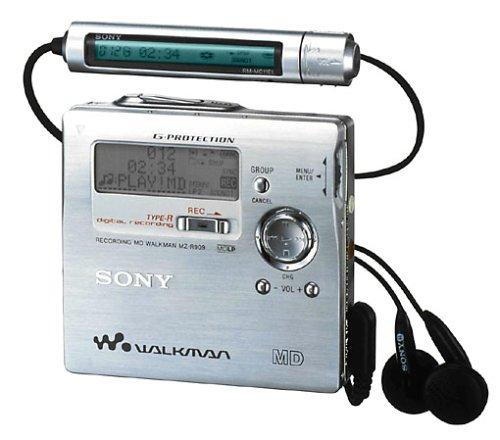 Sony MZ-R909/S tragbarer MiniDisc-Rekorder silber