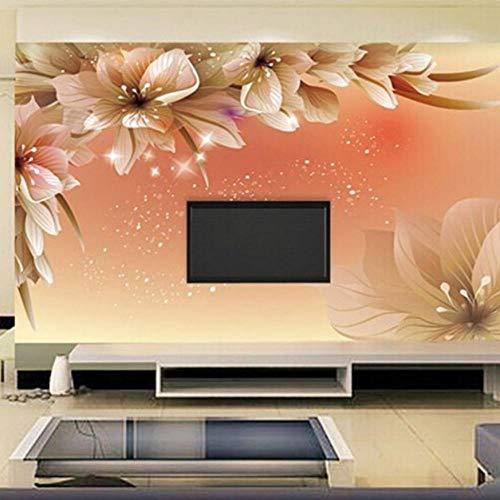 3d fototapete moderne blume wandbild tapete wohnzimmer sofa tv hintergrund stoff tapete schlafzimmer-280X200CM -