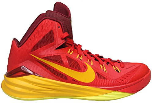 Nike Hyperdunk 2014, Chaussures de Sport-Basketball Homme University Red/Team Red/Sonic Yellow/Gold 676