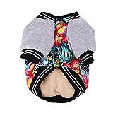 wlgreatsp Hund Winterkleidung Warmer Mantel Drucken Jacke Sweatshirt Weiche Kostüm Kleidung Outfit Bekleidung