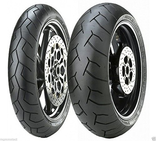 Paar-Motorrad-Reifen-PIRELLI-DIABLO-fr-KTM-990-Super-Duke-2007-Gre-vorne-12070-ZR-17-58-W-Gre-hinten-18055-ZR-17-73-W