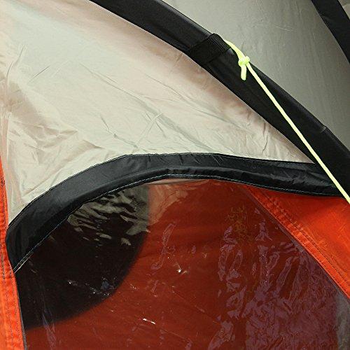 10T Mandiga 3 Orange - Tunnelzelt für 3 Personen, Campingzelt mit großer Schlafkabine, wasserdichtes Familienzelt mit 5000mm, Zelt mit 2 Eingängen und 2 Fenstern, Festivalzelt mit Dauerbelüftung, 3 Mann Zelt mit Tragetasche, Zeltheringe und Zeltgestänge - 21