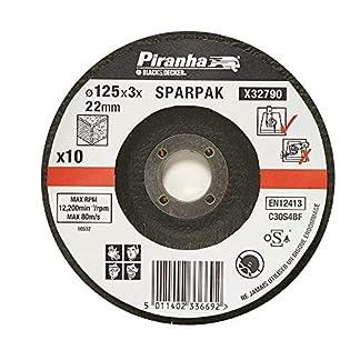 Black+Decker X32790-QZ – 10 discos de corte para mampostería 125 mm