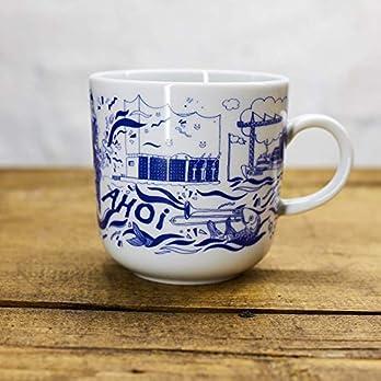 Kaffeebecher Kleine Elbmusik – Maritime Porzellan-Tasse original aus dem Norden