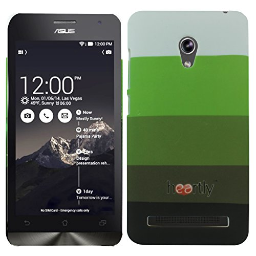 Heartly Strip Style Retro Color Armor Hybrid Hard Bumper Back Case Cover For Asus Zenfone 5 Lite A502CG - Army Green  available at amazon for Rs.249