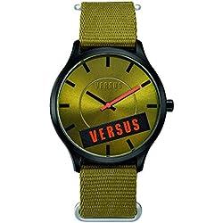 Versus SO6080014adulte-montre mixte-quartz-bracelet Stoff grün