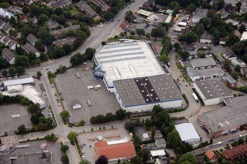 MF Matthias Friedel - Luftbildfotografie Luftbild von Grandkuhlenweg in Lurup (Hamburg), aufgenommen am 15.07.12 um 18:51 Uhr, Bildnummer: 6204-04, Auflösung: 7360x4912px = 36MP - Fotoabzug 50x75cm