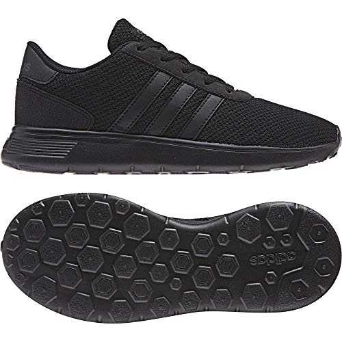 adidas Unisex-Kinder Lite Racer Fitnessschuhe, Schwarz (Negbas/Neguti 000), 36 EU - Jungen Adidas Schuhe Kinder