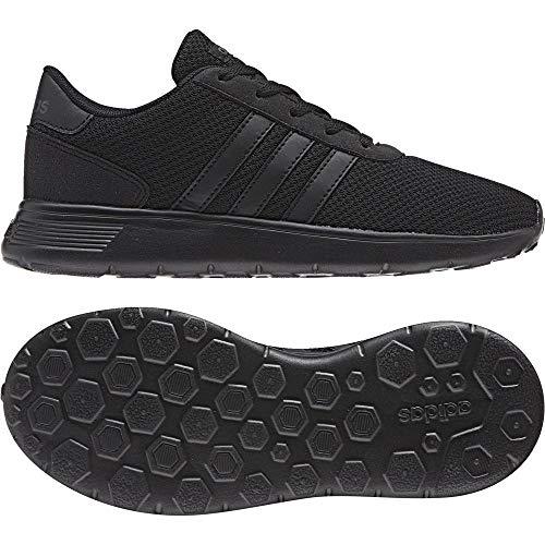 adidas Unisex-Kinder Lite Racer Sneaker, Mehrfarbig (Black 001), 37 1/3 EU (Kinder Schuhe Adidas Schwarz)