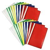 COM-FOUR® 20x Schnellhefter Hefter DIN A4 bunt sortiert mit Beschriftungsstreifen (20 Stück - bunt)