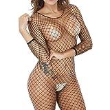 Frauen Fischnetz Sheer Open Crotch Body Strumpf Bodysuit Dessous Damen Sexy Erotik Dessous Netzstrumpf Ouvert Bodystocking Offen Crotch Nachtwäsche Unterwäsche