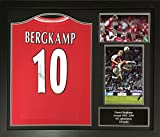 Dennis Bergkamp signed and framed Arsenal 10 shirt with COA and proof. Professionally framed and ready to hang.
