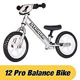 Kinderlaufrad Strider - 12 Pro Balance Bike, von 18 Monaten bis zu 5 Jahren, silber, Link führt zur Produktseite bei amazon.de