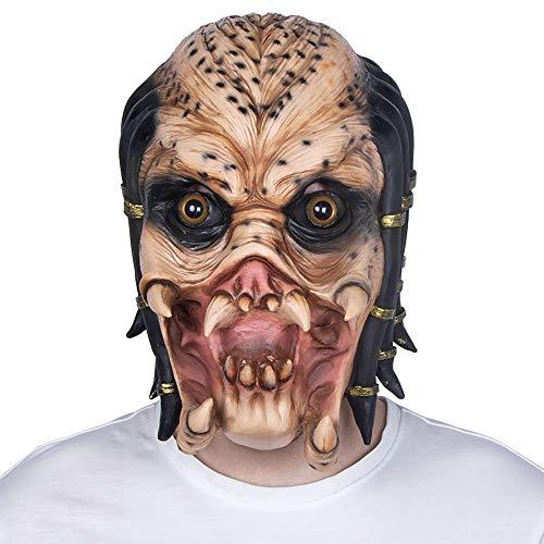 Halloween Unterhaltung Maske Film Thema Gezackte Krieger Maske Alien Vs Terror Latex Kopfbedeckungen Unisex 1 Stücke Stücke Erwachsene Geschenk,Skintone,Onesize (Terror 1 Filme De Halloween)