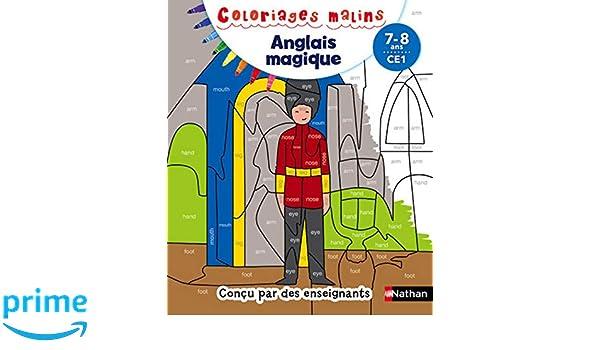 Coloriage Magique Anglais Vetements.Coloriages Magiques Anglais Ce1 7 8 Ans Amazon Fr Sandrine