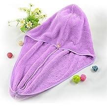 Kicode Hair Wrap Cap Turban Drying Cap Twist Hair Microfiber Ultra Absorbent