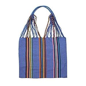 Einkaufstasche Boho El Carmen 'hellblau'; Handgewebt, Handtasche, HANDARBEIT, Tasche, Geschenkidee für Frauen