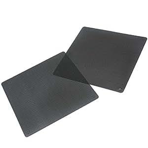 2 Pcs 140 mm PC PVC Anti-Poussiere Filtre Maille Filet Film Pr Mini Ventilateur ---Noir