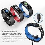 Winisok Fitness Armband mit Blutdruckmessung Pulsmesser, Fitness Tracker Uhr Wasserdicht IP67 Schrittzähler Uhr Stoppuhr Sport GPS Aktivitätstracker Schlafüberwachung Anruf SMS für Kinder Damen Männer - 8