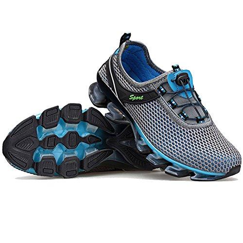 Qiucdz Herren Sneaker Herren Breathable Lightweight Dämpfung Walking Sneaker Klettern Jogger Schuhe (9US-Mien=EU/FR 43, Grau)