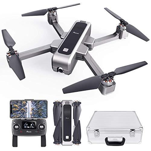 Potensic Faltbare GPS Drohne, 2K Kamera 5G WiFi FPV Drohne, RC Quadrocopter, GPS-Heimkehr, Ultraschall-Höheneinstellung, Positionierung des Optischen Flusses, Bürstenlose Motoren mit Koffer D88