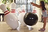 #10: THE BIGGEST! Strikes and Spares Life Sized inflatable bowling game. 42 inch tall pins 25 inch wide ball. PUMP INCLUDED