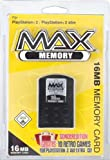PS2 MAX MEMORY 16MB Yellow-Pack (+10 Classic Retro Games for PS2)