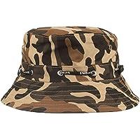 showsing Sombrero de Camuflaje Ajustable para Mujer y Hombre con Diseño de Gorra de Camuflaje de Boonía, Sombrero Casual de Verano, Color café, Tamaño Medium