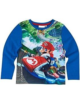 Super Mario Jungen Langarmshirt - blau