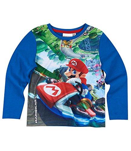 Super Mario Bros Chicos Camiseta mangas largas - Azul - 134