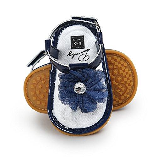 Scarpe per bambini Koly Sandali di perle del fiore del bambino Principessa Principessa Principesse Camminate Ragazze Scarpe da ginnastica Blue