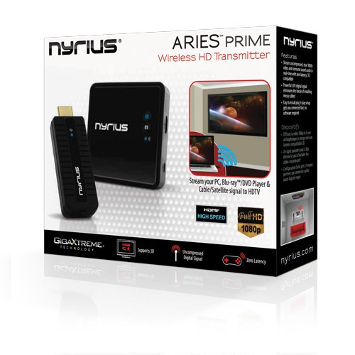 Nyrius NPCS549 AV Transmitter and Receiver Black Audio/Video Extender – A/V Extender (Micro-USB A, Power, Status, 0-40°C, -10-55°C, 10-80%, 100-240 V)