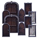 Dungeon Saga Dungeon Doors Pack 10 Hard Plastic Doors 10 Porte Originale