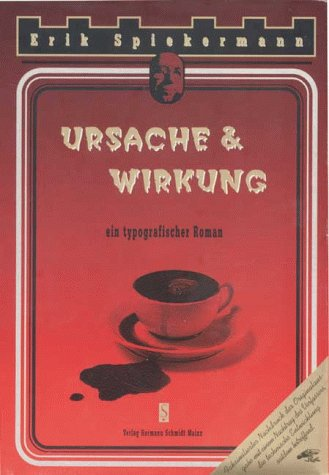 Ursache & Wirkung, ein typografischer Roman Buch-Cover