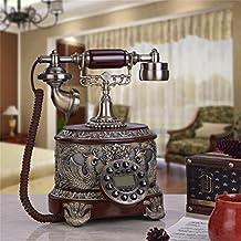 Europeo - estilo de la sala de estar de teléfono antiguo retro del teléfono fijo - Casas teléfono dormitorio teléfono viejo.
