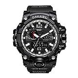 Formulaone SKMEI 1545 Herren Digital Armbanduhr 59m Wasserdichte Outdoor-Sport Armbanduhr Klettern Laufen Chronograph Wecker - Black & Silver