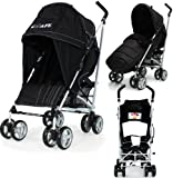 Baby Stroller iSafe Media Viewing Buggy Pushchair - Black Complete With + Deluxe 2in1 footmuff + Raincover