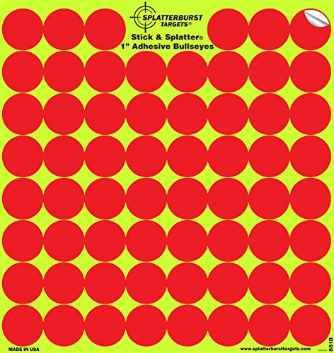 splatterburst Ziele 10Stück 2,54cm Stick & Splatter selbstklebend Reactive rot Zielscheiben–Gun–Gewehr–Pistole–Softair–BB Gun–Pellet–Air Gewehr