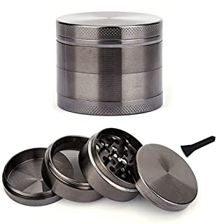 50mm 4 Part Aluminium Metal Grass Leaf Herb Spices Magnetic Grinder Pollinator Crusher Muller Carbon