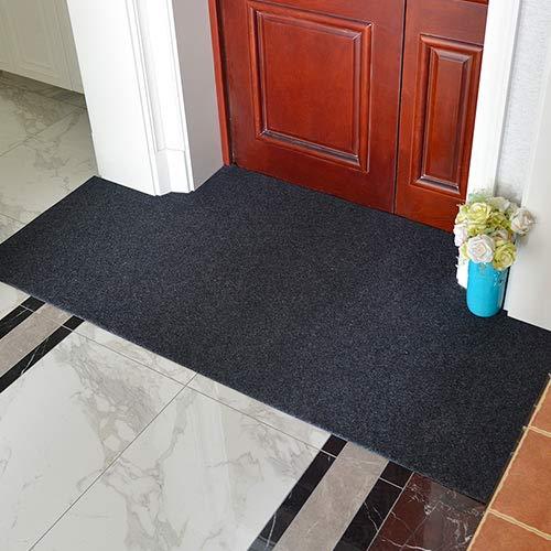 GRENSS Die Fußstütze Pad in den Eingang von Tür zu Tür Rutschfeste Kratzen auf dem Fuß pad Küche Wohnzimmer Teppich zuschneiden, 60 * 120 cm, grau (Kratzen Pad Tür)