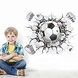 Saingace Wandaufkleber Wandtattoo Wandsticker,3D Fußball Ball Fußball Wandaufkleber Abziehbild Kinder Schlafzimmer Haus Zimmer Dekor Sport