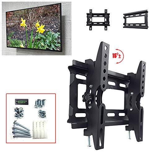 Taha, staffa di montaggio da parete inclinabile per la maggior parte dei televisori a LED LCD OLED al plasma da 14 a 49 pollici, max VESA 200 x 200 mm fino a 40 kg di TV