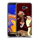 Head Case Designs Giocattolaio Babbo Natale Magro Cover Morbida in Gel per Samsung Galaxy J4 Core