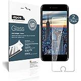 Apple iPhone 8 Schutzfolie - 2x dipos Glass Panzerfolie 9H Folie Kunststoffglas