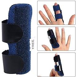 Dedo Extensión Férula para Dedo en Gatillo, Tirante Ajustable de la Férula del Dedo, Lanzamiento del Tendón del Dedo y Correa de Fijación del Alivio del Dolor con Ayuda de Aluminio Incorporada